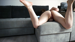 Girl with Big Ass Waiting her Boyfriend from Work