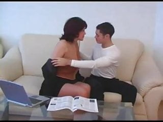 Mature cunt fucker The adult business-woman with bush cunt her young fucker