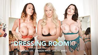 Naughty America - Three hot MILFS fuck in the dressing room