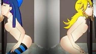SDT Double Gloryhole- Panty and Stocking
