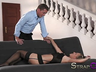 Strapped dildo Strapon double penetration strap on paradise for blonde
