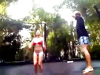 Dick good sport Teens fuck good on trampolin