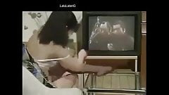 funny strip tease in front of tv