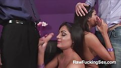 Raw Fucking Sex - Foursome With Kat Lee