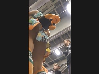 Comic strip figures - Supergirl upskirt in the comic con