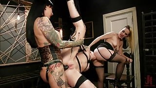Toe Hungry Butt Slut - Lily Lane and Miss Robin double-team