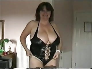 Basque and lingerie - Busty mature in basque
