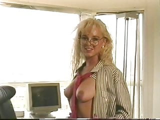Sexy secretary pussy - Sexy secretary shows her tits and pussy on the desk