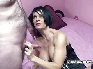 Mature twat photos Busty milf melissa swallows gets her mature twat banged