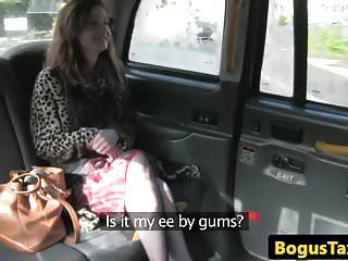 Brit pussy Real taxi brit in stockings spunked on pussy