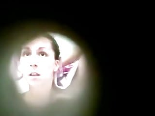Naked girls hidden camera Voyeur in cabin films naked girl after shower
