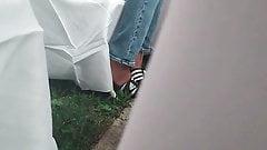 Игра в Adidas со слайдами в обуви