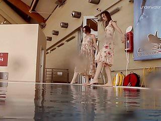 Hairy underwater Two hot hairy beauties underwater