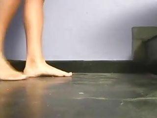 Foot fetish porn dirty feet Lesbian slave worship dirty feet