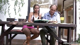 He finds her riding father in law cock
