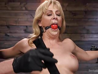 Full metal gay game Milf kitten cherie deville restrained and sybianed in metal