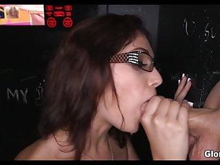 Limp dick bangbros Nerdy babe loves random gloryhole dick