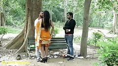 Indian Hot Kissing - Girlfriend with Boyfriend, Prank in Saree