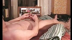 Fucking my blanket and cumming on my belly