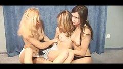 Threesome lesbian teen