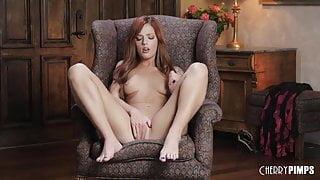 Redhead Scarlett Mae Works Her Wet Pussy And Masturbates