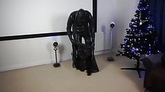 Inflated heavy rubber suit