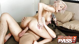 Dyed Haired Teen Victoria Oral And Actual Sex