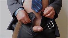 MEN at WORK (1) Jerking at working desk