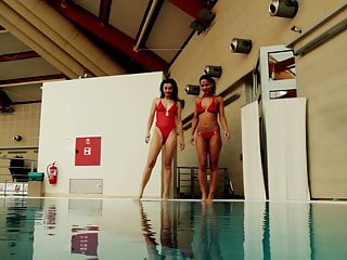 Naked swim classes Nina markova and zlata oduvanchik swimming naked in the pool