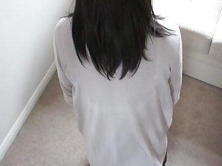 Cum over pantyhose ass - Cum over my pantyhose