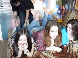 Pornstars on czech tickled feet Tickle teen feet