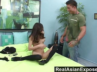Sexy girls get bent over Realasianexposed - ariel rose gets bent over and plowed