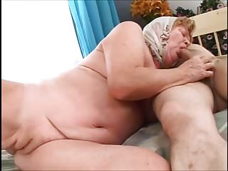 Granny shows her tits - Granny shows her clam.