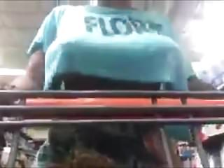 Gitant black tits Black tits flashing shopping
