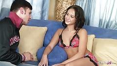 Skinny Half Thai Teen Jessica Fuck Rough by Huge Cock