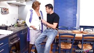 78yr old German Granny Seduced to Fuck by Step Grandson