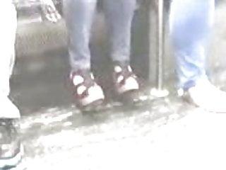 Thuosand foot krutch rock fist High heels - rocking wedges - candid