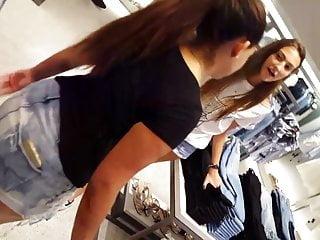 Tall teen tgp - Candid voyeur hot thin skinny tall teen in shorts