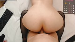 tranny fucks girl on cam