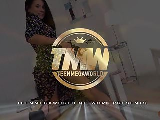 Single teen mums Teenmegaworld -beauty4k- hot babe with a single compliment