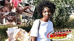 ジャーマンスカウト-黒人熟女zaawaadi、現金のための公共ピックアップセックス