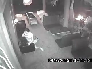 Blue moon asian cafe Surveillance camera catches thai whore having sex at cafe