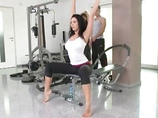 Double it up ddouble anal Double up for a busty brunette in the gym