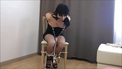 Francesca Tied to the Chair in Difficulty