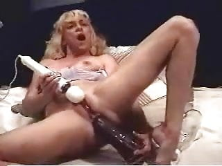 Girl inserting dildo - Huge dildo insertion