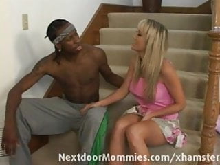 Black gay model thug Black thug takes care of a blonde milf