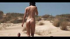 sunbathing on a nude beach