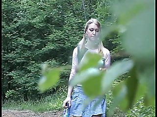 Busty blonde teen pussy Busty blonde teen pissing in forest