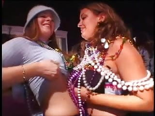 Mardi gras flasher tits Mardi gras flasher claims to be shy