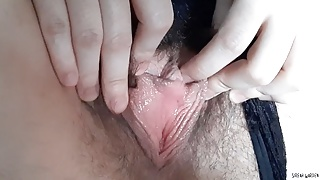 Milf playing with post-orgasm dripping Wet pussy